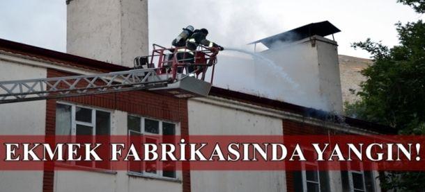 Elbistan Halk Ekmek Fabrikası'nda yangın çıktı