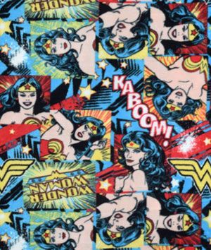DC Comics Wonder Woman Girl Power II Fleece Fabric