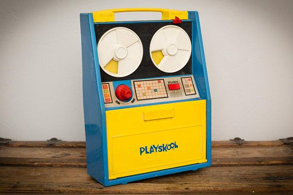 Playskool Play & Learn Computer, Tech Toy, Vintage 1970s, Play Reel-to-Reel Technology, Electronic Imagination, Learning, Education, 1972