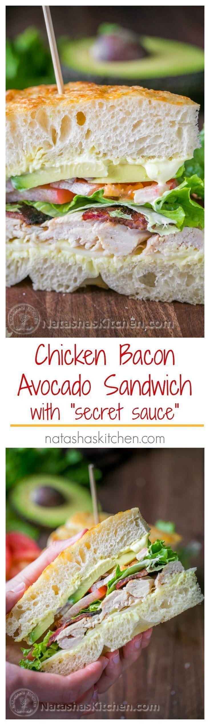 "Chicken Bacon Avocado Sandwich with ""secret sauce"" - A Kneaders Bakery Copycat Recipe   NatashasKitchen.com"