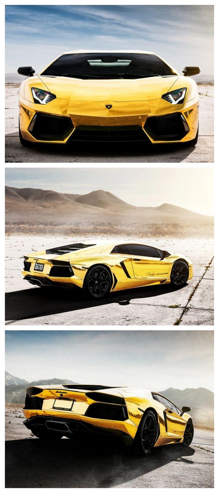 Glistening Gold Aventador