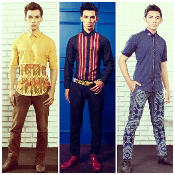 Mavazi menswear spring/summer , traditional tribal pattern in modern outfit from east indonesian