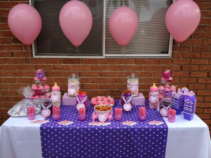 Pink and Purple Lolly Buffet - Tarryn's Baby Shower