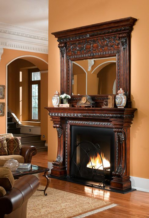 This Mantel Is Elegantly Carved From Solid New Zealand Pine And Finished In  A Rich Dark