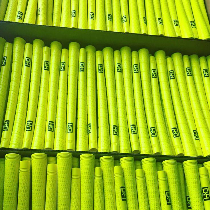 PURE Grips custom golf grips. Neon yellow golf grips! #GolfGrips