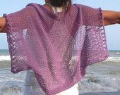 Poncho tejido con telar primavera verano.