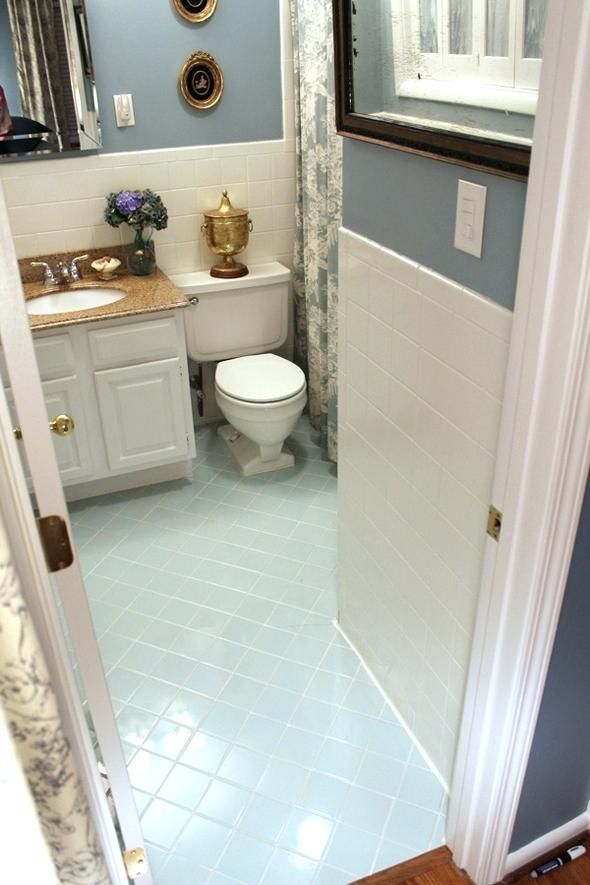 Painting Bathroom Floor Tiles Black Paint And Tile Ideas Can You