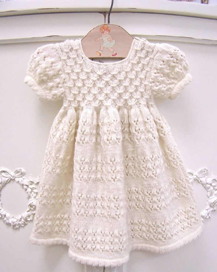 Organic Short Sleeve Hand Knit Smock Dress by Zia & Tia