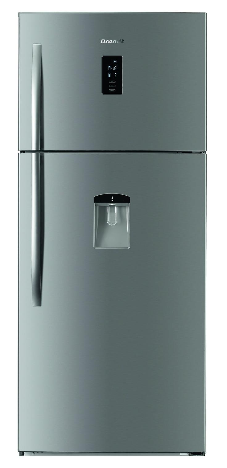 Réfrigérateur Congélateur haut - Volume 450L - Froid ventilé - Classe A++ -  Distributeur d'eau - Inox