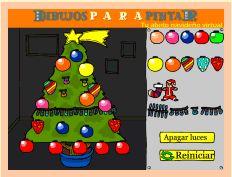 Actividades para Educación Infantil: Adorna el árbol de Navidad DIBUJOS PARA PINTAR
