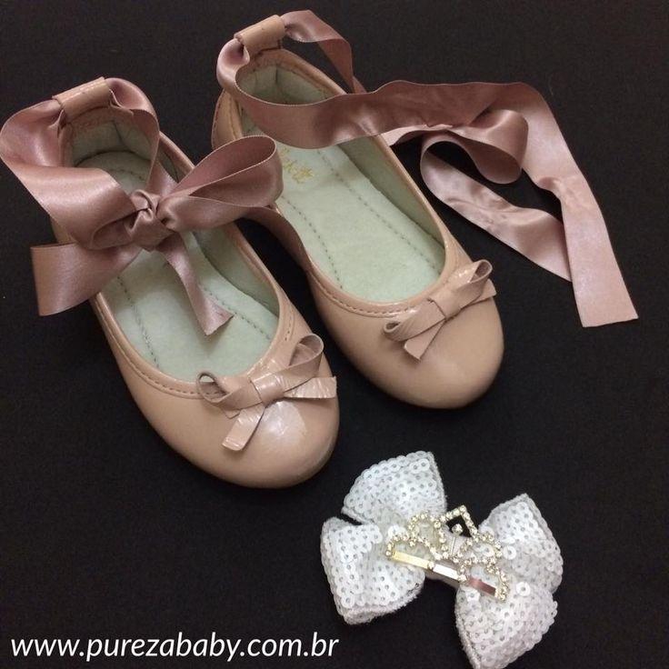 Inspirada nas sapatilhas de ballet para os pezinhos da sua princesa ❤️️  🚨 Na Balck Friday por R$ 79,00   Para comprar acesse: www.purezababy.com.br/sapatilha-bailarina-aleka