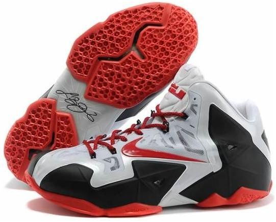 Nike LeBron 11 White Red Black Shoes are cheap sale online. Pick the new  arrival lebron 11 shoes at kickshost online store with fast delivery.