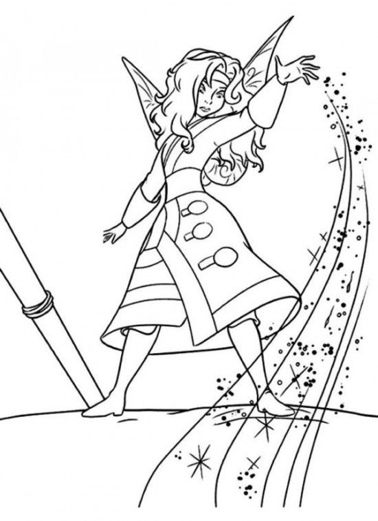 pirate fairy coloring pages - tinkerbell pirate fairy coloring pages