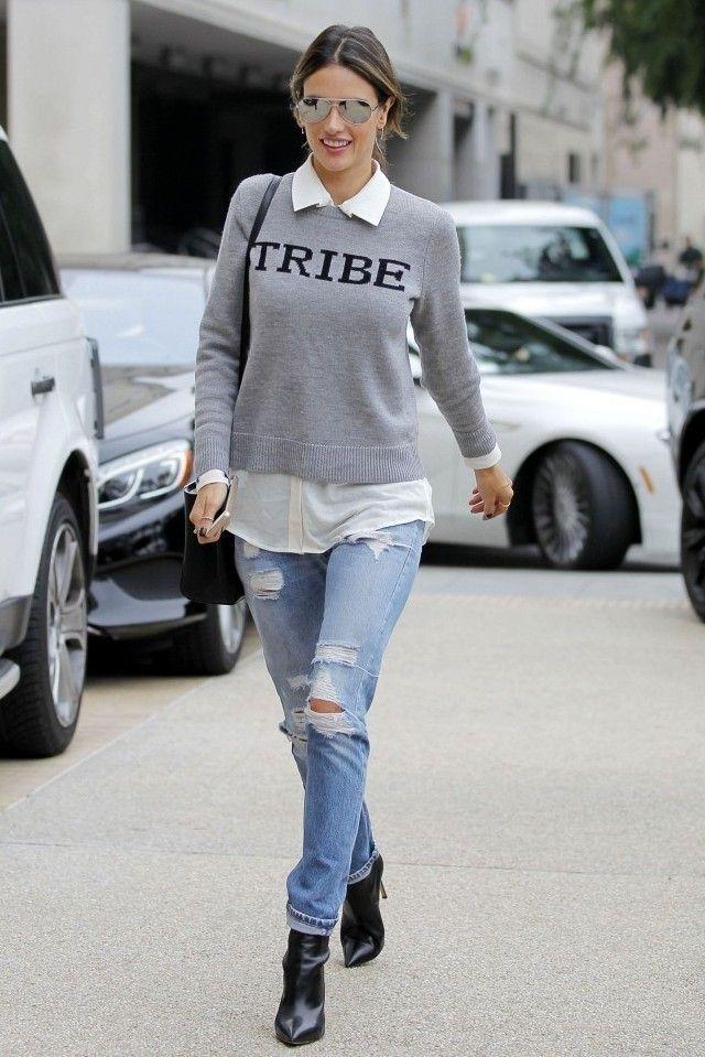 Look: Tricot Cinza + Jeans | Looks Inspiração