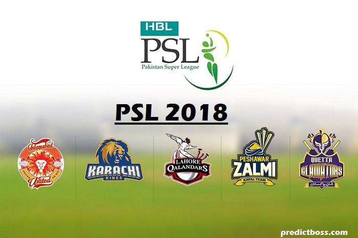 Pakistan Super League 2018 Cricket Match Prediction PSL T20 2018 pakistan super league 2018 pakistan super league 2018 schedule psl match prediction