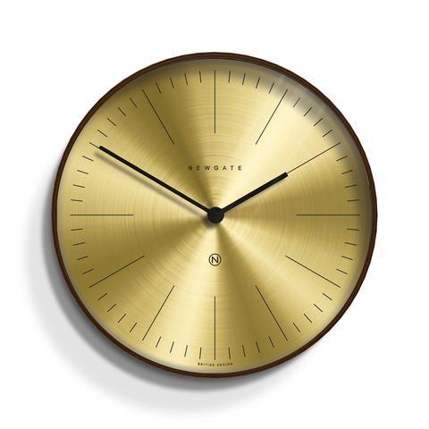 Mr Clarke Wall Clock By Newgate Mocha Brass Wall Clock Brass Clock Dark Wood
