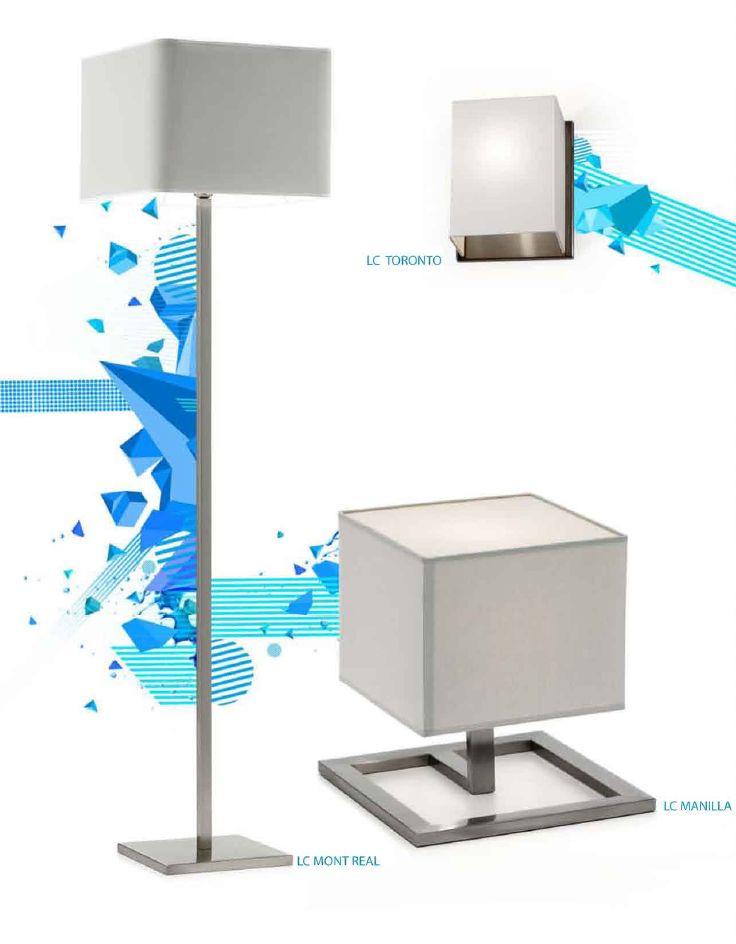 Wall Sconce Toronto, Table Lamp Manilla and Floor Lamp Montreal | Aplique Toronto, Candeeiro de mesa Manilla e Candeeiro de pé Montreal.