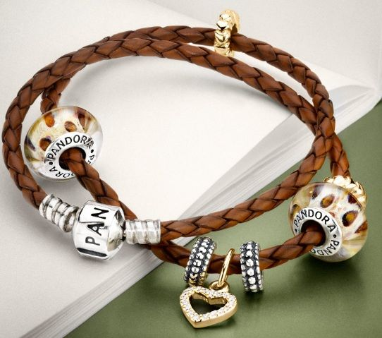 Changed up my Pandora to a double brown leather strap with gold and silver beads. Love it !