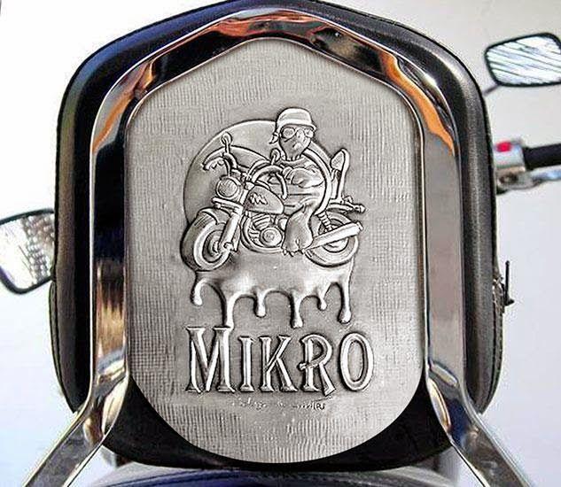 ArteyMetal: Respaldo moto custom (Mikro)