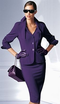 Aubergine.   Nice suit! First thing I put on is my C-Annies premium handmade lotion- feel great - look great!