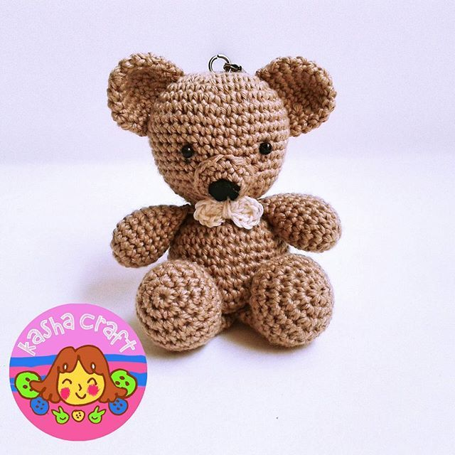 Brown Khaki Boy Vintage Bear  Pattern by amigurumitogo