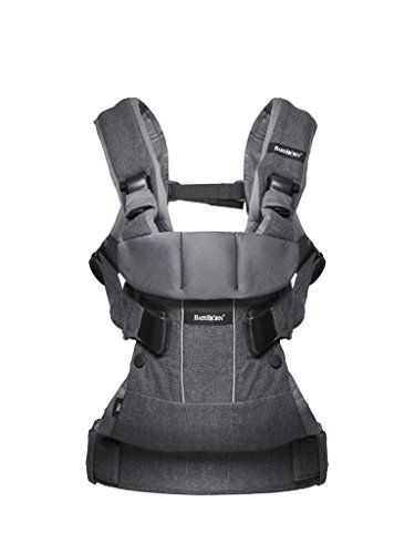 BabyBjorn Baby Carrier One  Denim Gray/Dark Gray Cotton Mix.