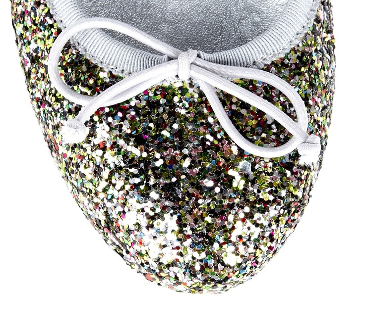 Glitter round toe ballet flat