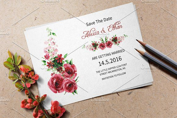 Wedding Save The Date Template by Wedding Templates on @creativemarket