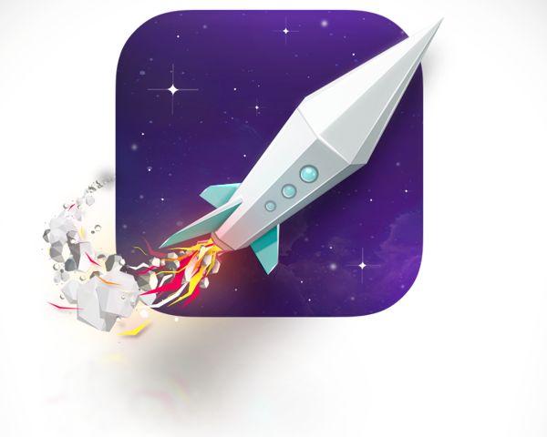 Rocket icon by Anton Moek, via Behance