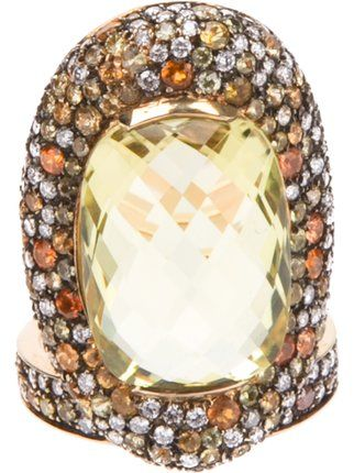 Shop Paolo Piovan diamond encrusted ring