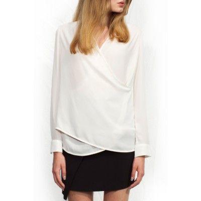 Noir&Blanc - Drape Shirt White - Kotyr.com