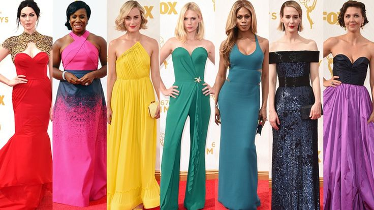 Taste the Rainbow! Emmys Gowns in Every Hue: Red, yellow, even purple!