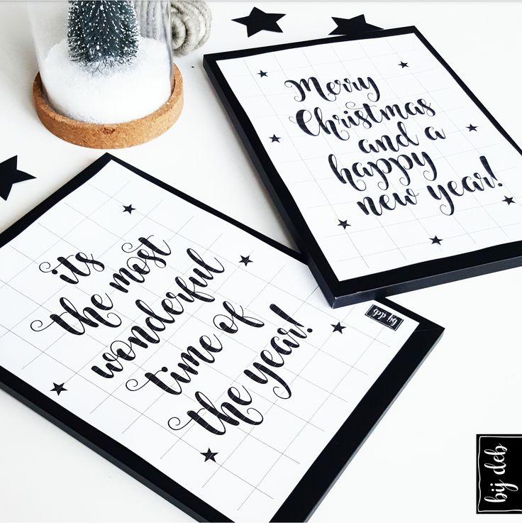Hallo allemaal,       Bij een huis vol met Kerst versieringen hoort natuurlijk ook een   leuke Kerst poster... Ik heb er 2 voor jullie...