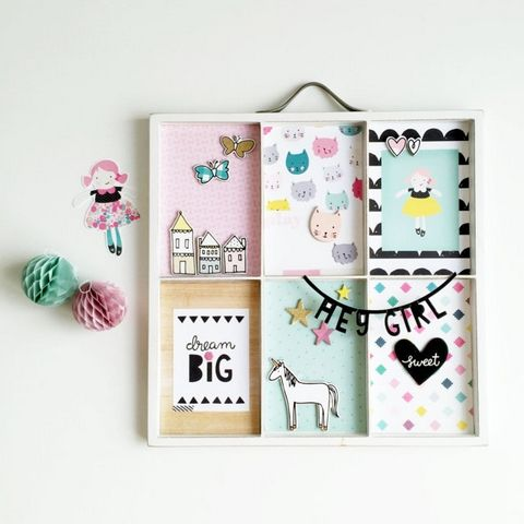 Create Home Decor with the Cute Girl Collection (Crate Paper)
