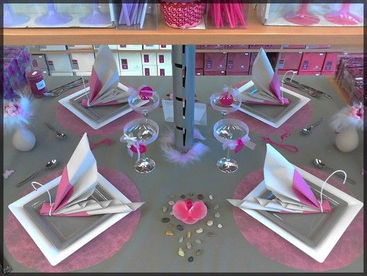 gris rose decoration table deco table shop birthday child idee deco