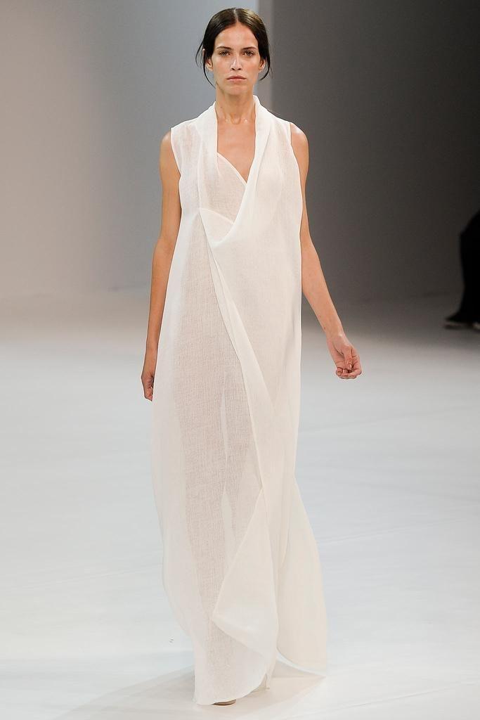 Gorgeous gauze gown. Porsche Design Spring 2015.