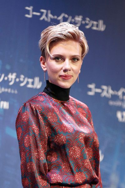 """Scarlett Johansson Photos Photos - Scarlett Johansson attends the official press conference ahead of the World Premiere of the Paramount Pictures release """"Ghost In The Shell"""" at the Ritz Carlton Hotel on March 16, 2017 in Tokyo, Japan. - 'Ghost in the Shell' Japan Press Conference"""