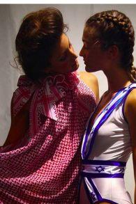 Yaron Minkowski's kufiya design & his designer 14 year-old daughter Ori's Israeli-flag bathing suit http://www.timesofisrael.com/when-the-keffiyeh-turned-couture/