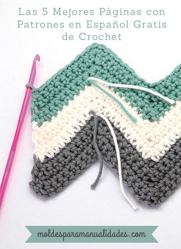 Excelente Patrón Manta Sencilla Crochet Friso - Manta de Tejer ...
