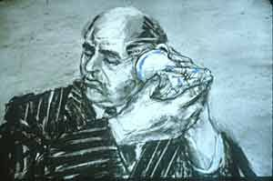 William Kentridge - drawing for the film WEIGHING...and WANTING, 1997-8