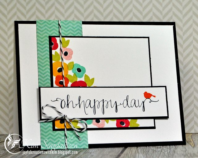 Oh Happy Day from Joyful Creations with Kim.  Uses Avery Elle stamps.