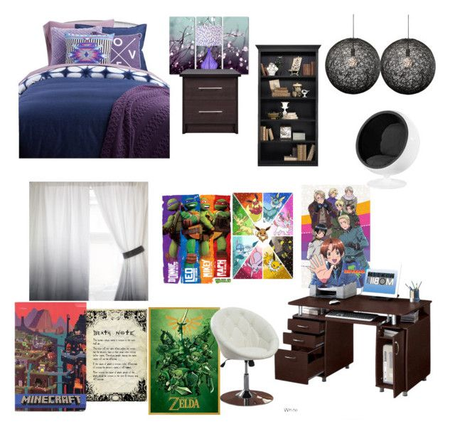 """My Dream Bedroom #3"" by mimi-minecrafter ❤ liked on Polyvore featuring interior, interiors, interior design, home, home decor, interior decorating, Trademark Fine Art, Nuevo, Coaster and Ballard Designs"