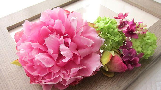 しゃくやくとライラックのヘッドドレス http://www.fleuriste-glycine.jp/