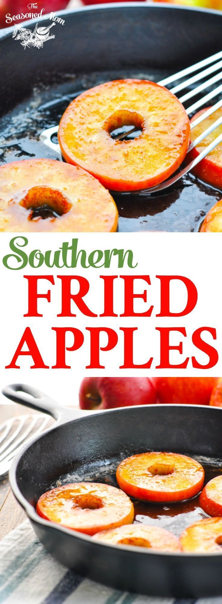 These Southern Fried Apples are an easy side dish or light dessert for fall! Sides | Apple Recipes | Easy Dessert Recipes | 5 Ingredients or Less Recipes