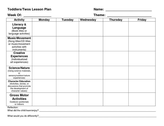 36 best Lesson Plans images on Pinterest Preschool, Day care and - toddler lesson plan template