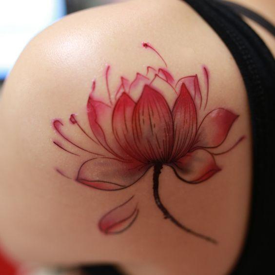 feminine lotus tattoos - Google Search