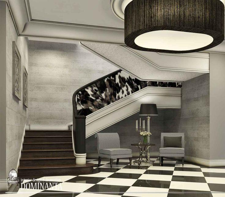 Лестница, спроектированная бюро #DOMINANTA для известного столичного ресторана