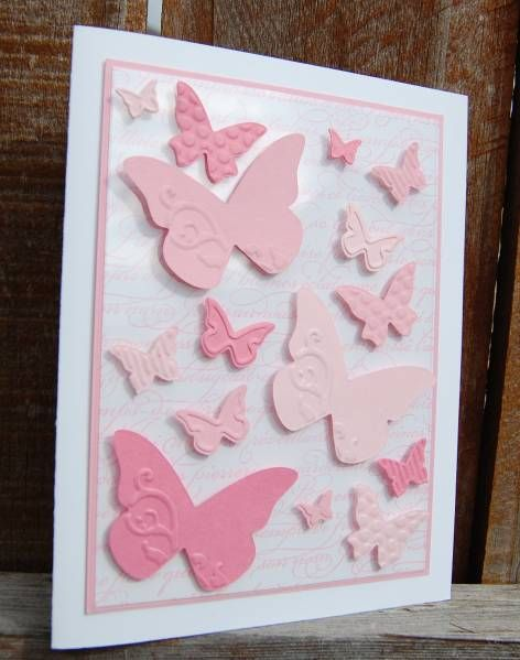 Pretty card using punches and embossed paper.