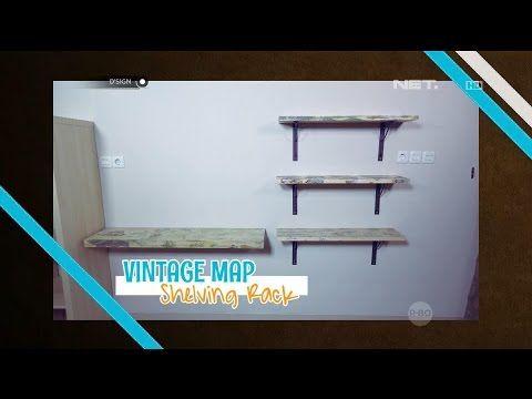 DIY: Vintage Map Shelving Rack - dSIGN - YouTube