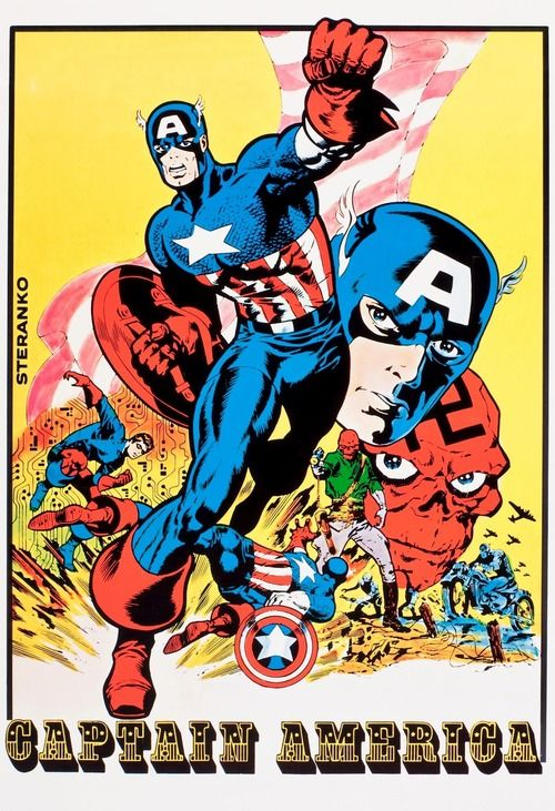 Heroes of my youth: Vintage Captain America by Jim Steranko